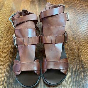 Pimmpiani Brown Gladiator Sandals 37